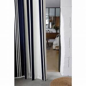 Rideau Blanc Et Bleu : rideau rayures bleu et blanc ~ Teatrodelosmanantiales.com Idées de Décoration