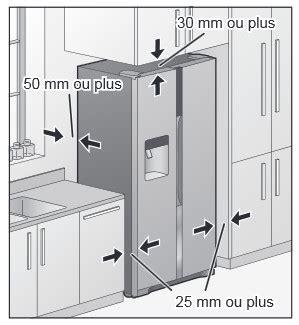 frigo americain dans cuisine equipee bien installer un réfrigérateur américain darty vous