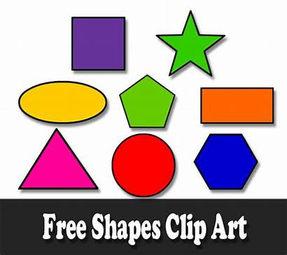 Shapes Clip Circle Triangle Clipart Oval Colorful