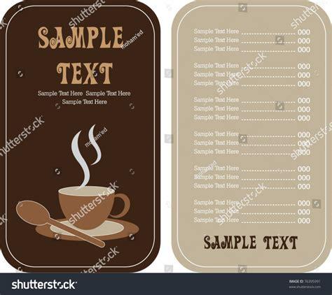 coffee tea shop menu card stock vector  shutterstock
