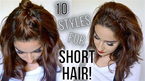 hairstyles  short hair quick easy   style  short hair claribella youtube