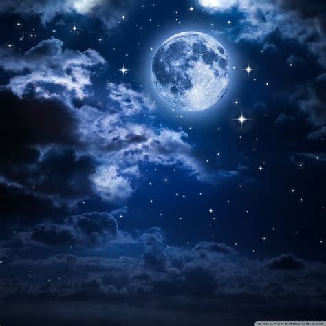 beautiful moon   sky  hd desktop wallpaper