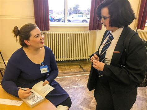 visiting author alywn hamilton  pensby pensby high school