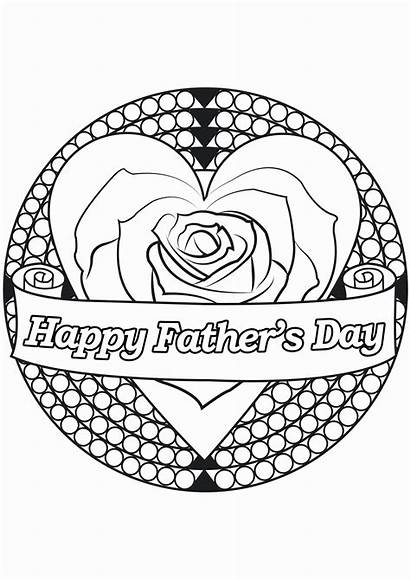 Coloring Pages Grandpa Fathers Happy Printable Getcolorings