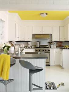 Decorating yellow grey kitchens ideas inspiration for Kitchen colors with white cabinets with where to find wall art