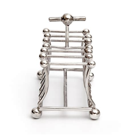 silver plated toast rack   style  christopher dresser