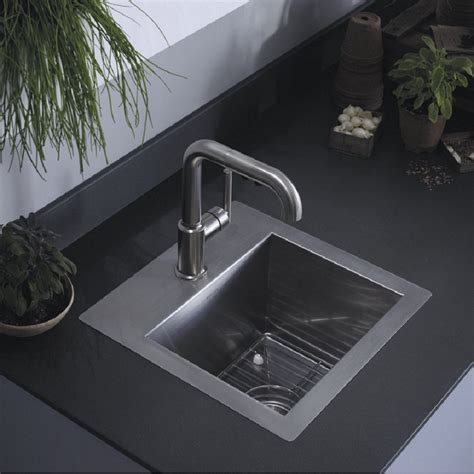kitchen sinks small kohler vault 3840 1 na small stainless steel kitchen sink 3054