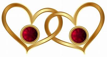 Hearts Golden Diamonds Clipart Diamond Transparent Heart