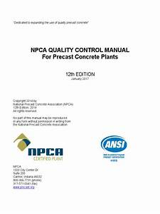Quality Assurance And Quality Control Manual