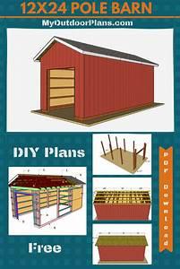 12x24 Pole Barn Plans In 2020