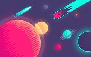 space, 8-bit, simple :: Wallpapers