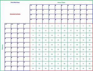 100 square football board template myideasbedroomcom With free super bowl pool templates