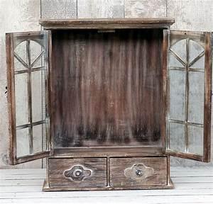 Küchenschrank Shabby Chic : h ngeschrank wandschrank vitrine k chenschrank landhaus shabby chic braun ebay ~ Orissabook.com Haus und Dekorationen