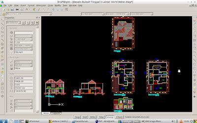 desain rumah  format file autocad dwg repositori