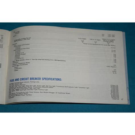 original  pontiac gto tempest owners manual