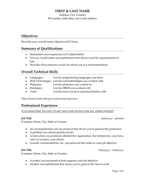 What To Write As An Objective On A Resume For Nursing by Update 988 What To Write As Objective In Resumes 37 Documents Bizdoska