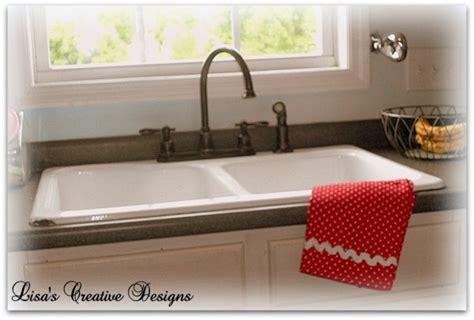 enamel cast iron farmhouse sink my farmhouse kitchen installing a quot new quot kitchen sink