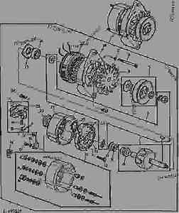 Alternator  12-volt   55 Amp   Robert Bosch   01f05  - Tractor John Deere 1530 - Tractor