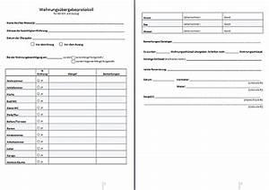 Neuer Mietvertrag Bei Bestehendem Mietvertrag : wohnungs bergabeprotokoll ~ Lizthompson.info Haus und Dekorationen