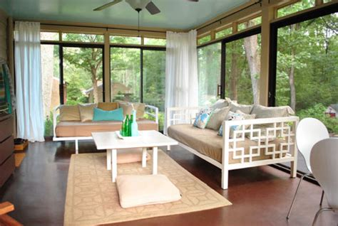 Ceiling Blinds For Sunrooms by How To Hang Corner Curtain Rods Painting The Ceiling