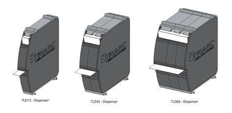 dispense autocad label dispensers triarc labelling