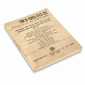 U S Military Surplus 1968 Machine Gun Technical Manual
