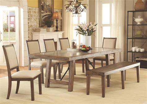 colettte rustic oak rectangular dining room cm3562t furniture of america