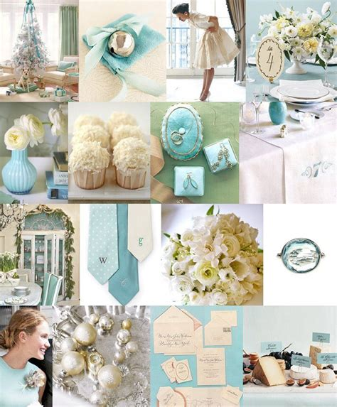 Tiffany Blue Wedding Color Palette ~ Great For Winter