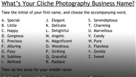 cliche photography business  generator