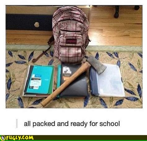 packed and ready for school