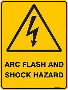 Warning sign arc flash and shock hazard ready signs for Arc flash sign