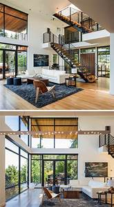 Inside, This, Home, Really, Opens, Up, With, A, Double, Height, Ceiling, And, A, Living, Room, With, Idyllic