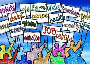 Social, Problems, Concept, Image, A, Group, Of, People, Protest, To