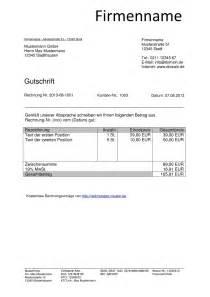 Vorsteuerabzug Rechnung : gutschrift vorlage kostenlos ~ Themetempest.com Abrechnung