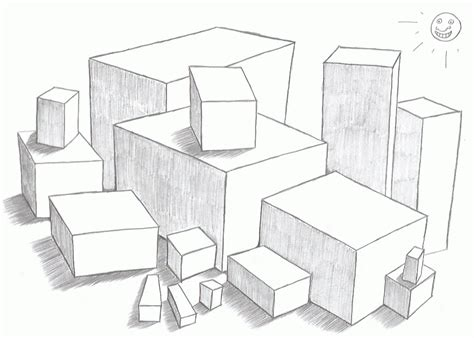beginner drawing lessons   draw boxes  drawing