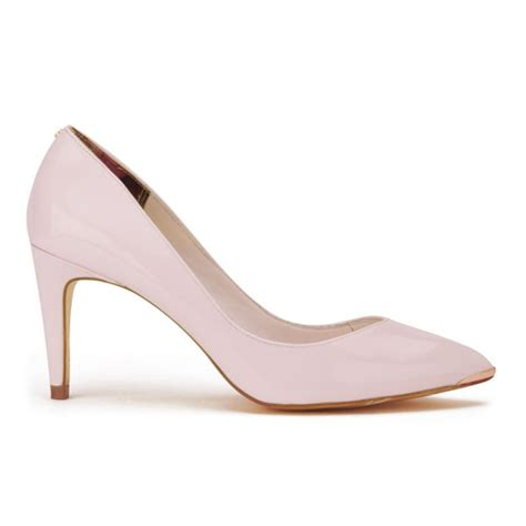 light pink shoes ted baker s monirra patent vintage pointed court