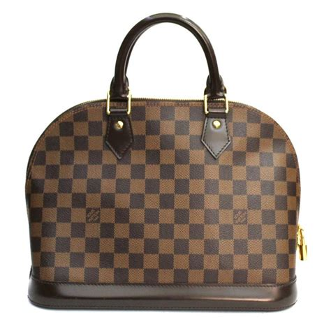 louis vuitton damier ebene alma pm bag  stdibs