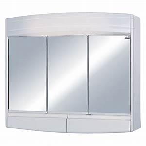Spiegelschrank 3 Türig Mit Beleuchtung : sieper spiegelschrank topas eco 3 t rig kunststoff mit beleuchtung energieeffizienzklasse a ~ Bigdaddyawards.com Haus und Dekorationen
