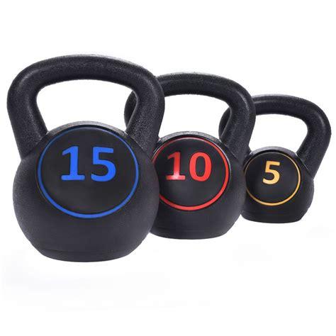 kettlebell gym giantex kit vinyl training pcs muscles body 15lbs weights kettle bell weight walmart costway sold amazon