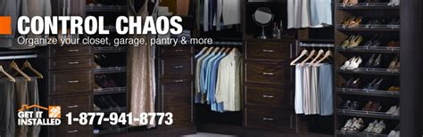 custom shelving closets storage installation at the