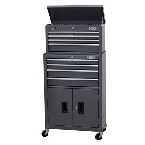 rolling tool cabinet hdx 24 in 10 drawer tool chest and rolling tool cabinet