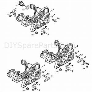 Stihl Ms 251 Chainsaw  Ms251 C  Parts Diagram  Engine Housing