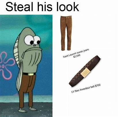 Spongebob Meme Fish Steal His Memes Exceso