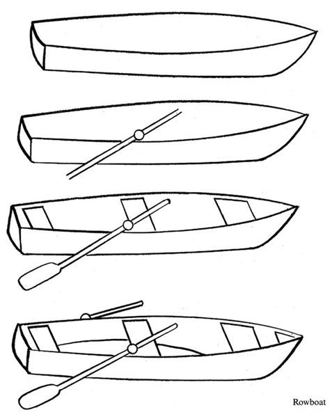 How To Draw A Boat Easy by 144 Best Rowboats To Paint Images On