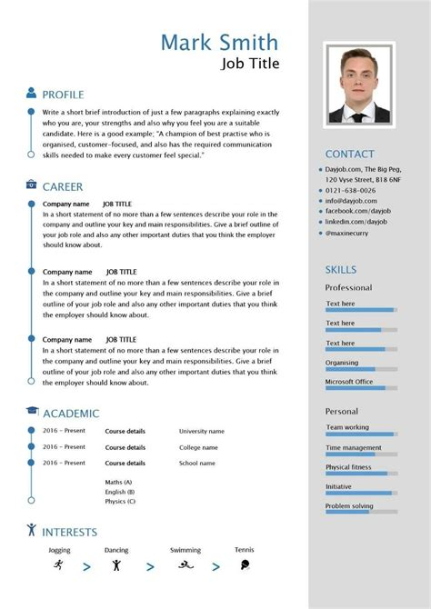 Free Cv Sles In Word Format by Free Downloadable Cv Template Exles Career Advice How