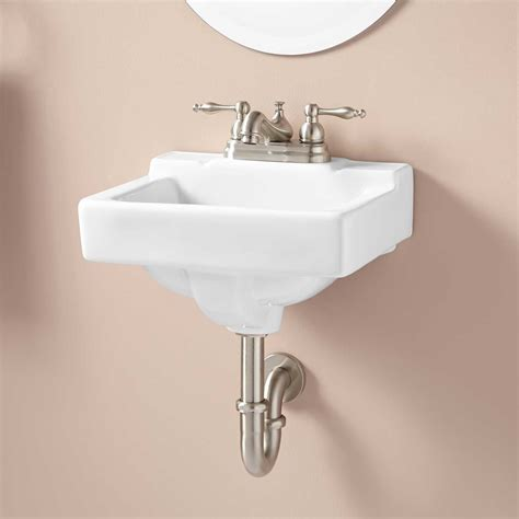 Jellbeck Porcelain Wallmount Sink Bathroom