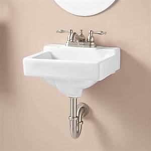 Jellbeck porcelain wall mount sink bathroom for How to install wall mounted sink