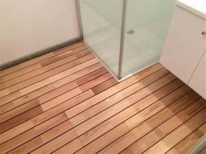 parquet flottant salle de bain et pieces humides en With épaisseur d un parquet flottant