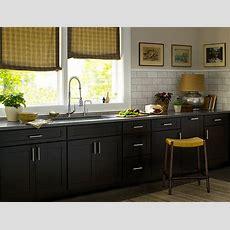 Black Kitchen Cabinets  Dayton Door Style  Cliqstudios