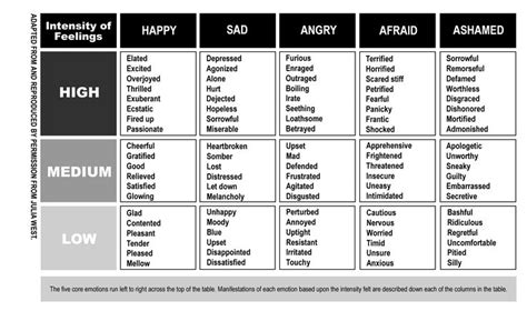 intensity  emotions chart happy sad angry afraid